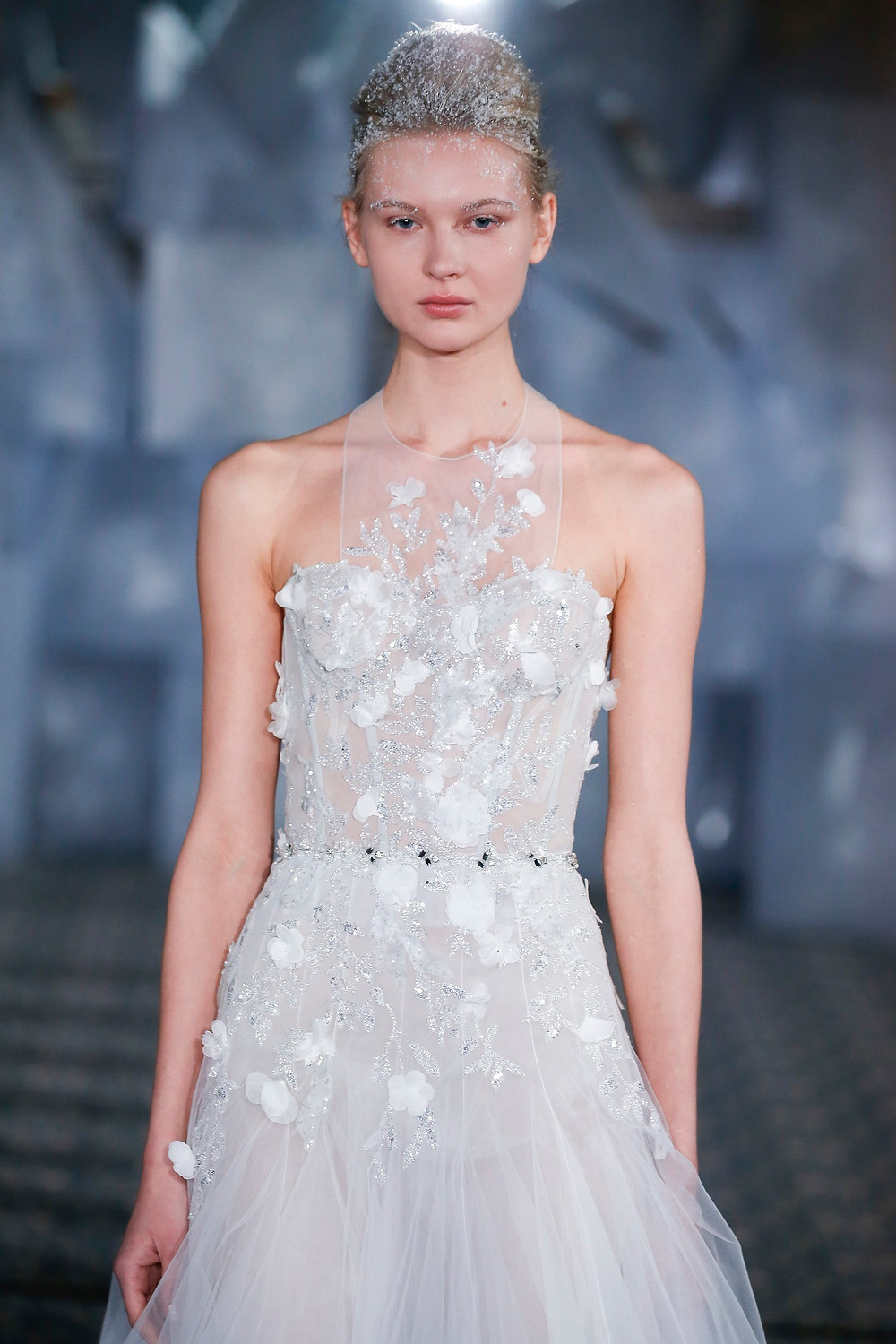 Weddinspired | 35+ Stylish Halterneck Wedding Dresses | Mira Zwillinger - From the Queen of Ice S/S 2019 collection