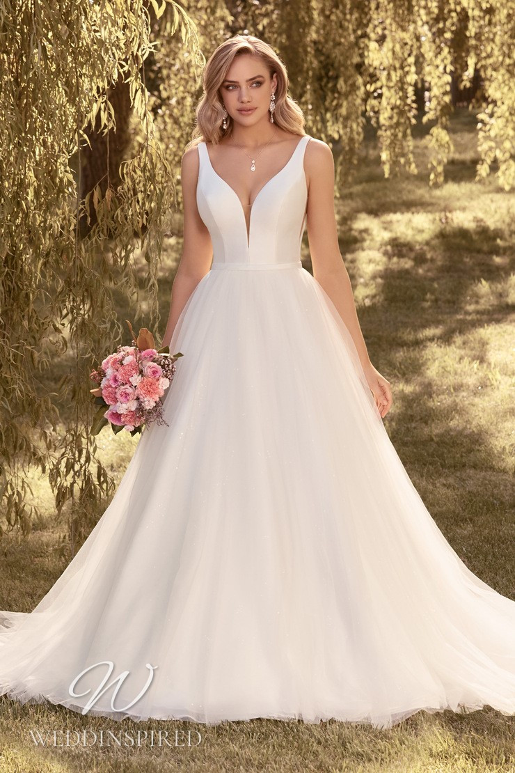 A Sophia Tolli 2021 satin and tulle princess wedding dress