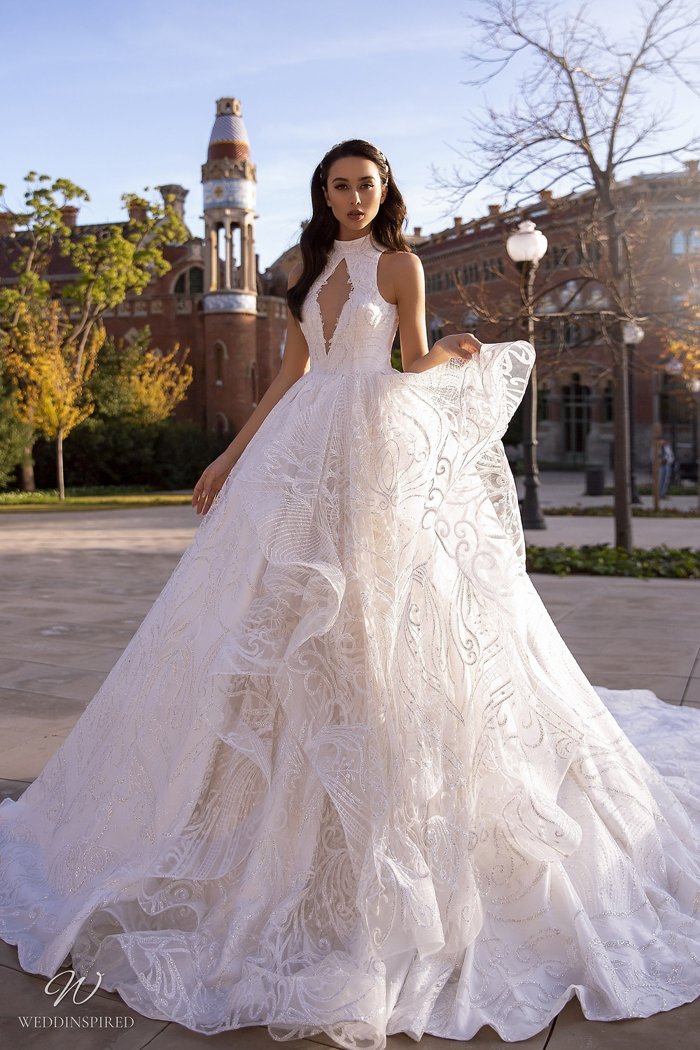 A Maks Mariano sparkle princess ball gown wedding dress