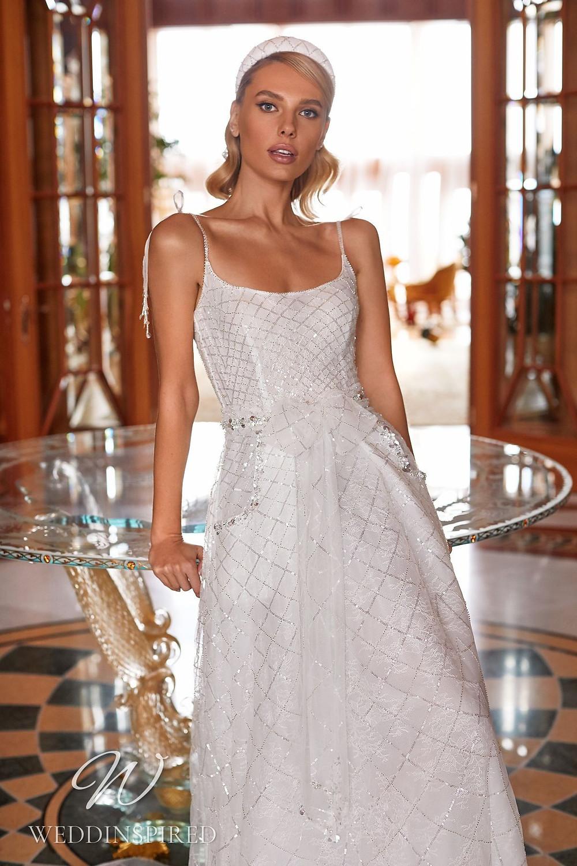 A Pollardi 2021 sparkly tulle A-line wedding dress