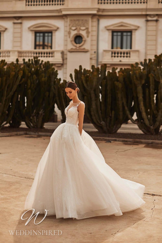 A Royal by Naviblue 2021 tulle princess wedding dress with pockets