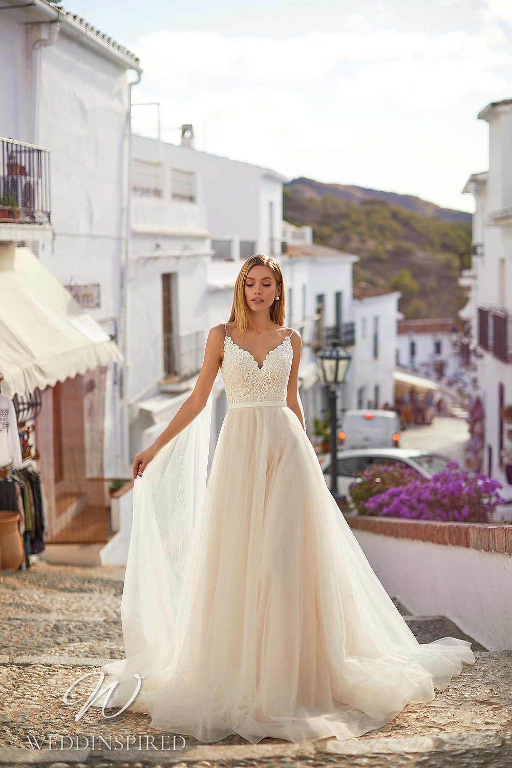 An Essential by Lussano 2021 lace and tulle A-line wedding dress