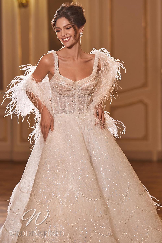 A Ricca Sposa 2022 sparkly princess wedding dress
