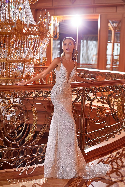 A Pollardi 2021 lace mermaid wedding dress