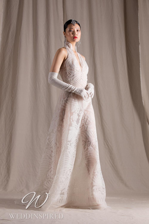 A Naeem Khan 2022 tulle A-line wedding dress