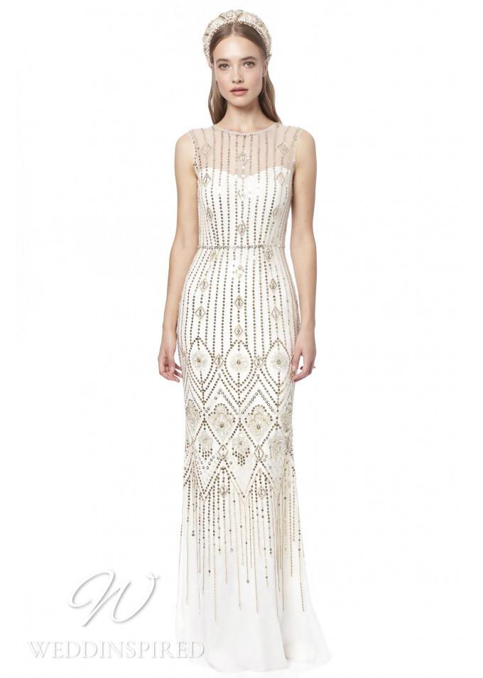 A Jenny Packham 2021 sparkly sheath wedding dress
