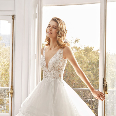 Aire Barcelona 2020 Wedding Dress Collection