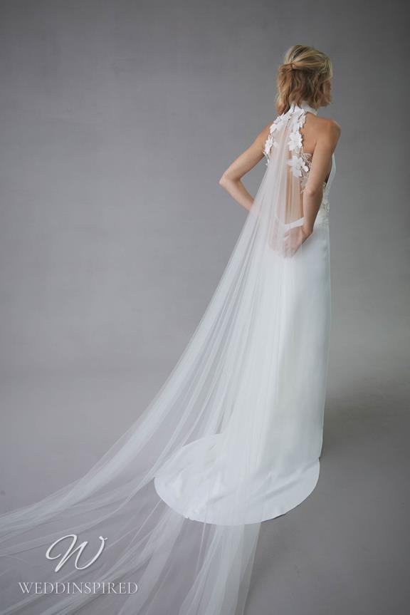 An Oscar de la Renta 2022 halterneck sheath wedding dress