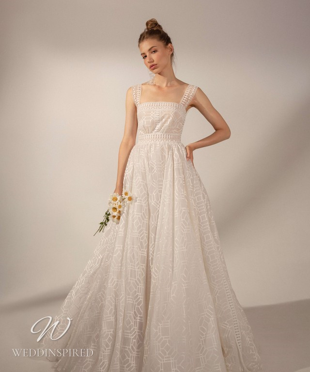 A Rara Avis 2021 simple pattern chiffon A-line wedding dress