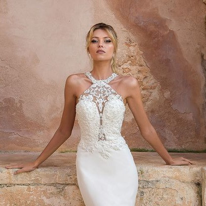 35+ Stylish Halterneck Wedding Dresses