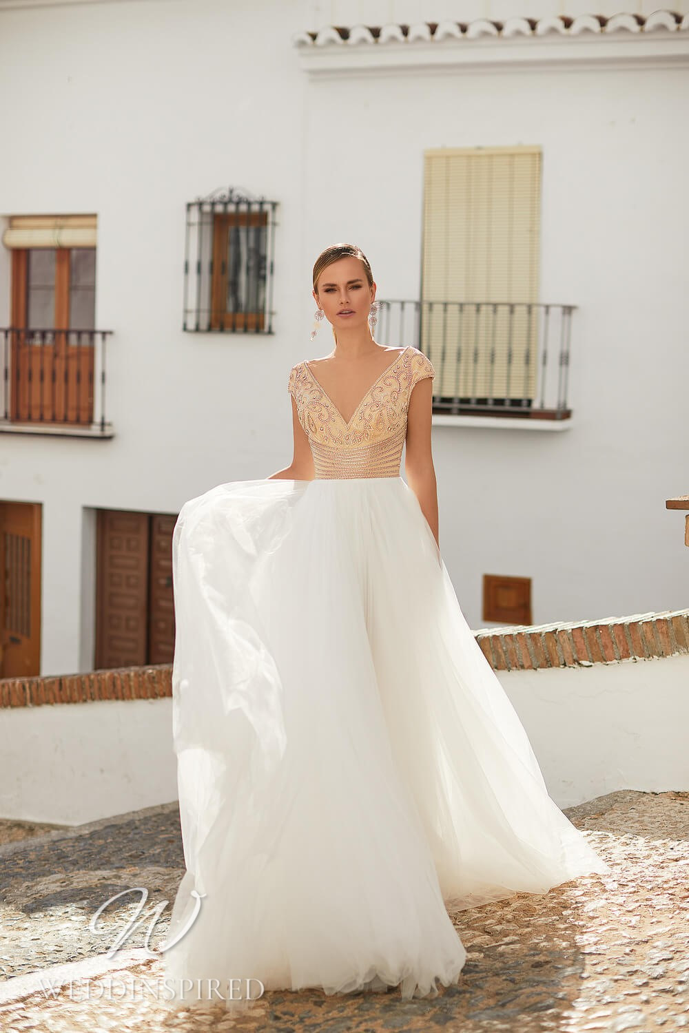An Essential by Lussano 2021 tulle A-line wedding dress