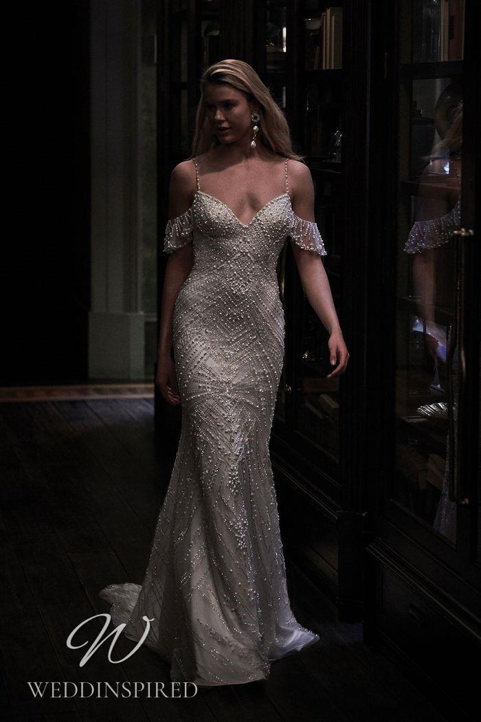 A Justin Alexander 2021 beaded mermaid wedding dress