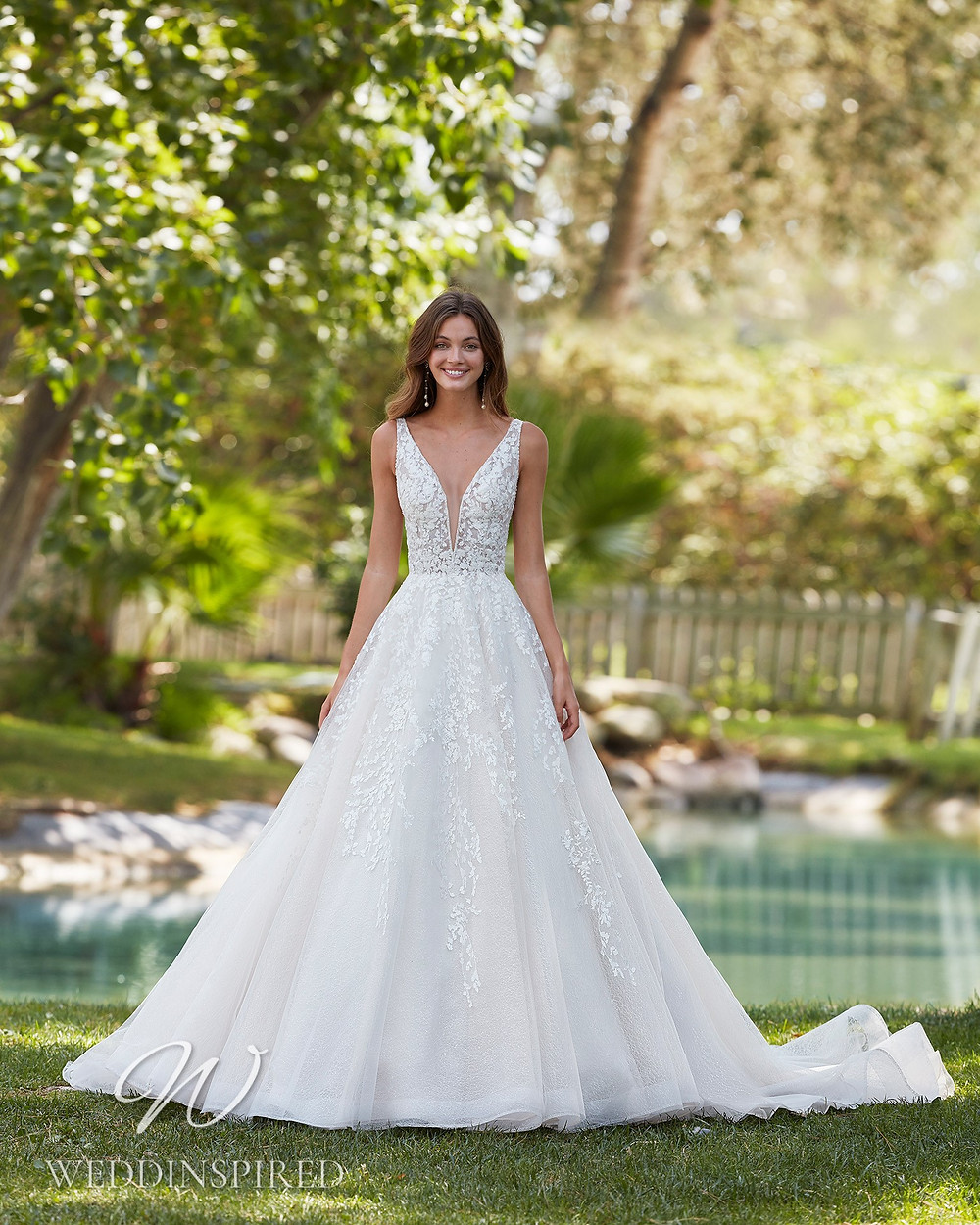 An Aire Barcelona 2021 lace and tulle princess ball gown wedding dress