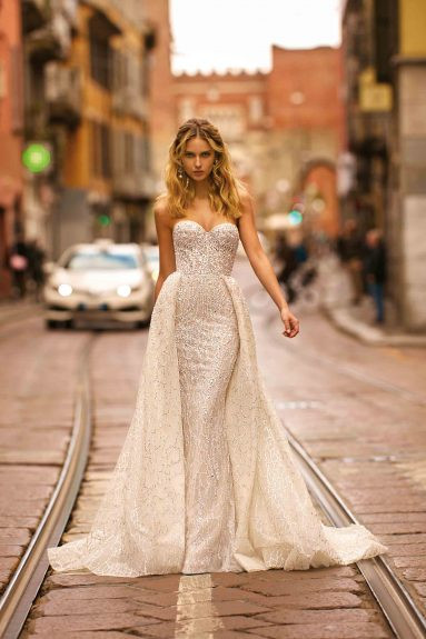 Weddinspired | 50+ Detachable Skirt Wedding Dresses | Berta from the Milano S/S 2020 collection