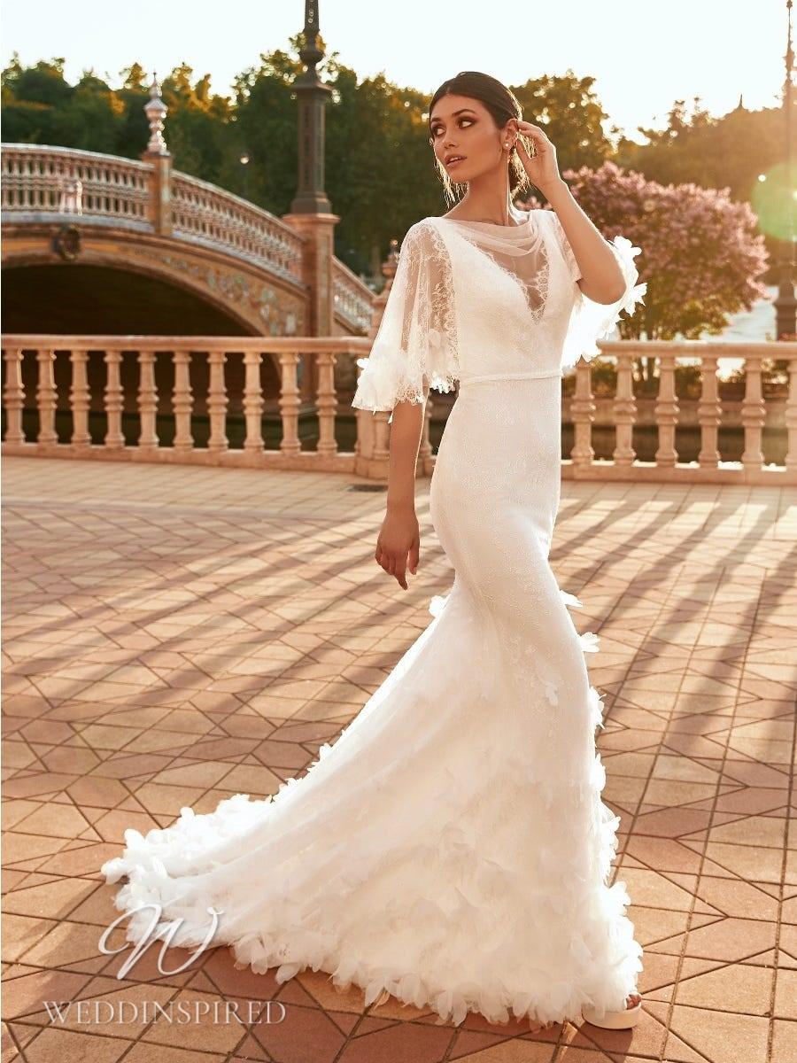 A Marchesa for Pronovias 2022 lace mermaid wedding dress