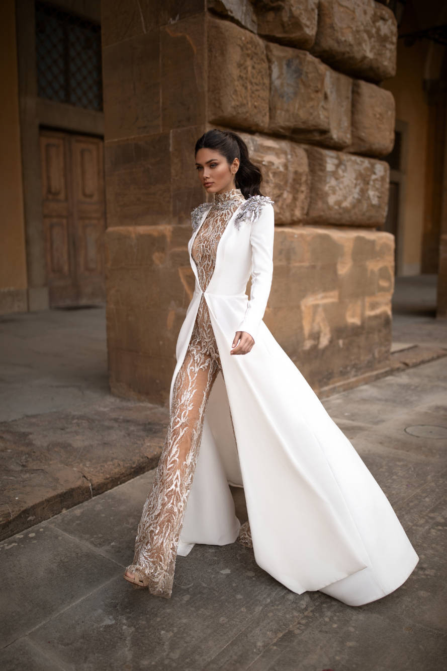 Weddinspired | 30+ Trendy Wedding Jumpsuits | Mila Nova from the Royal collection