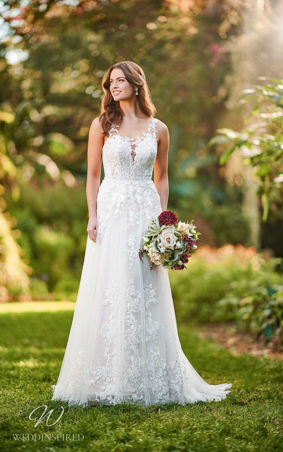 An Essense of Australia lace and tulle A-line wedding dress