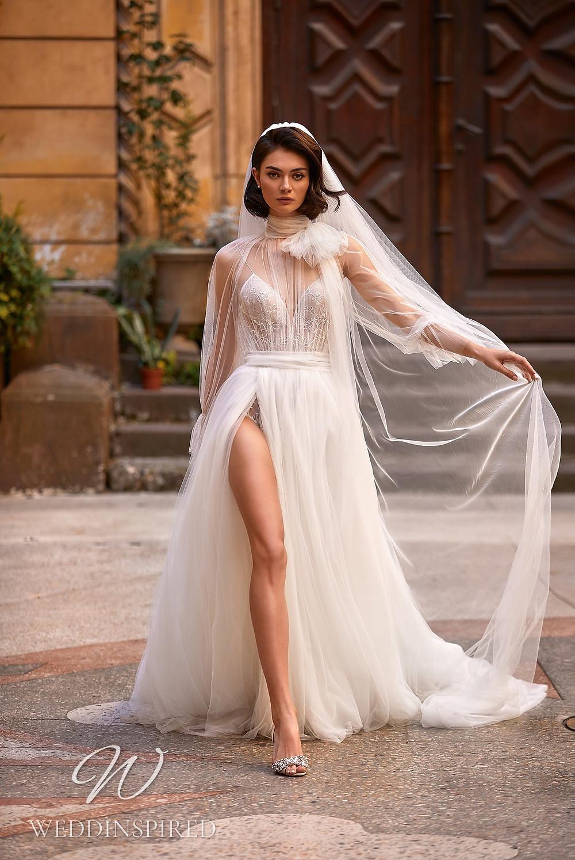A Daria Karlozi 2021 tulle A-line wedding dress