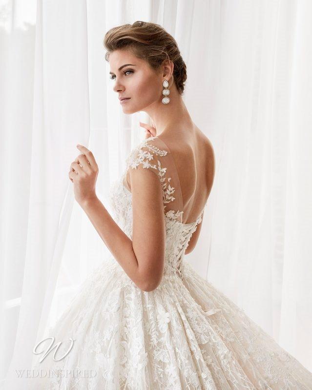 A Rosa Clara 2021 lace corset princess ball gown wedding dress