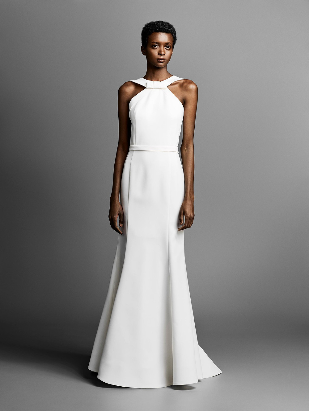 A Viktor & Rolf simple halterneck A-line wedding dress
