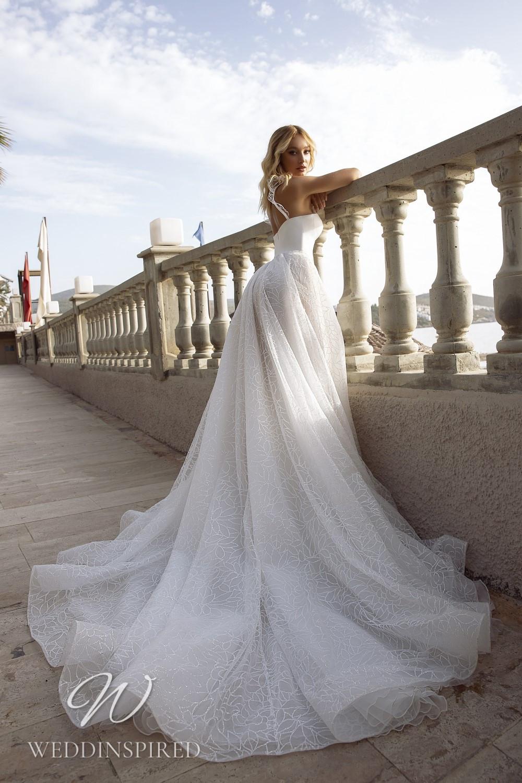 A Tina Valerdi satin and tulle princess wedding dress