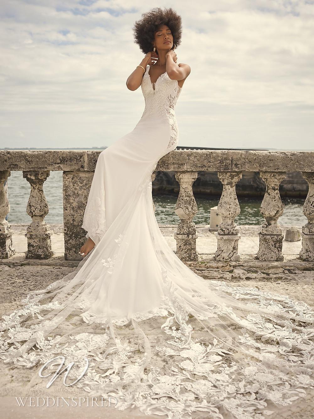 A Sottero & Midgley 2021 lace and satin mermaid wedding dress