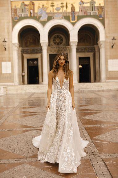 Weddinspired | 50+ Detachable Skirt Wedding Dresses | Berta from the F/W 2019 collection