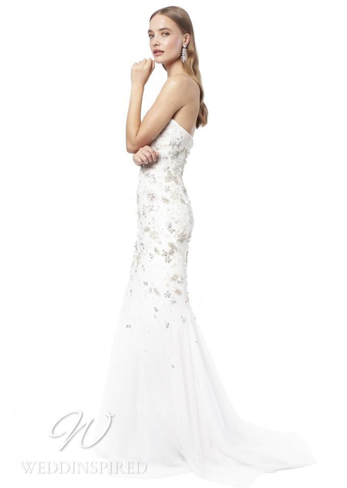 A Jenny Packham 2021 strapless tulle A-line wedding dress