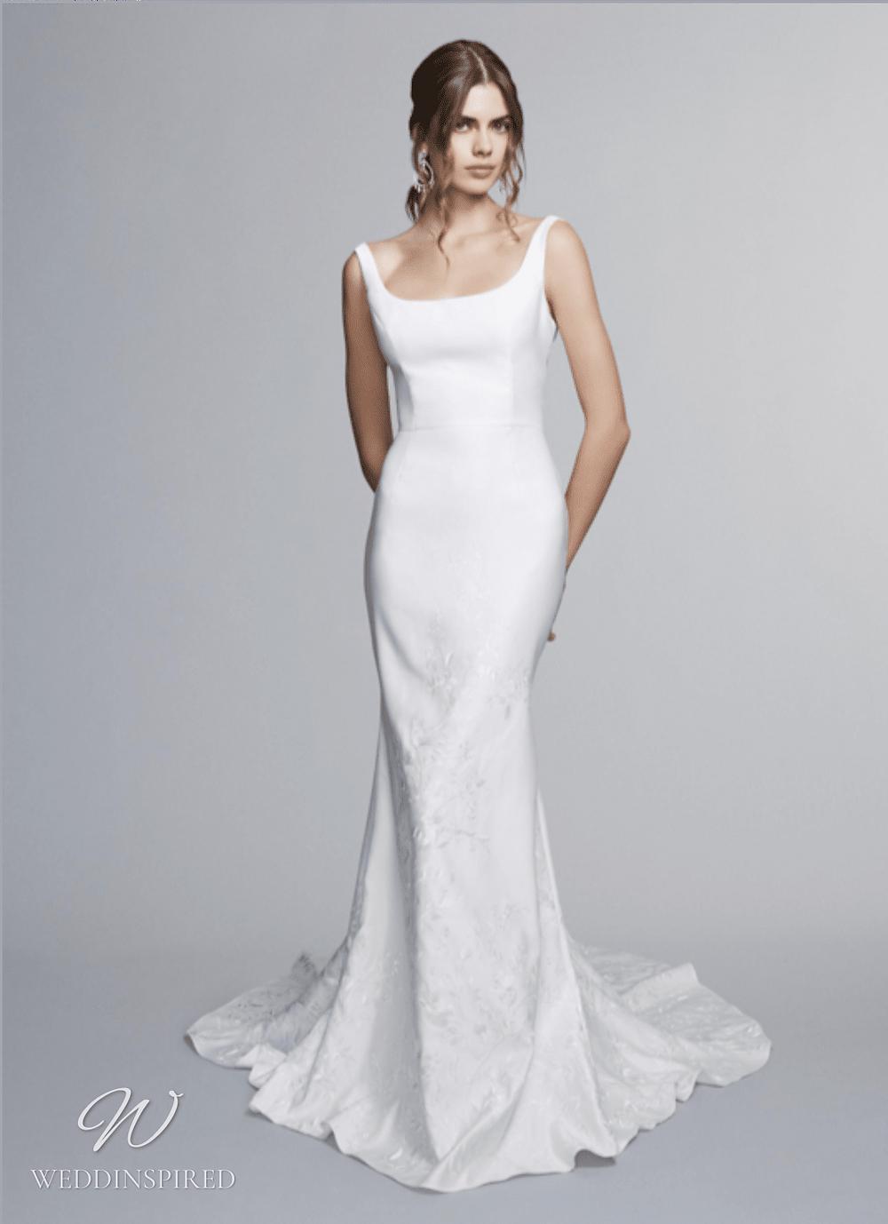 marchesa notte 2021 wedding dresses simple satin mermaid
