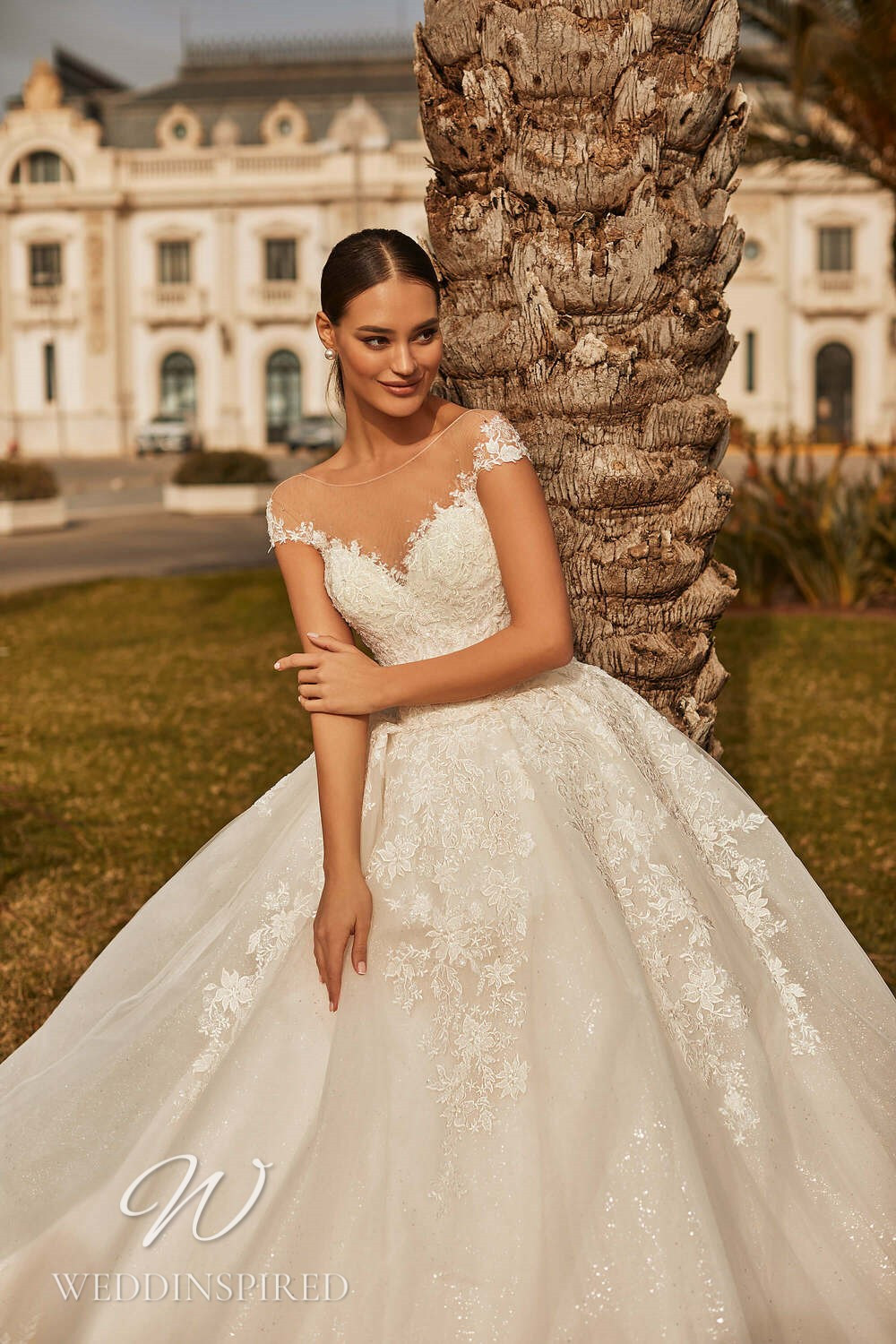 A Royal by Naviblue 2021 lace and tulle princess wedding dress