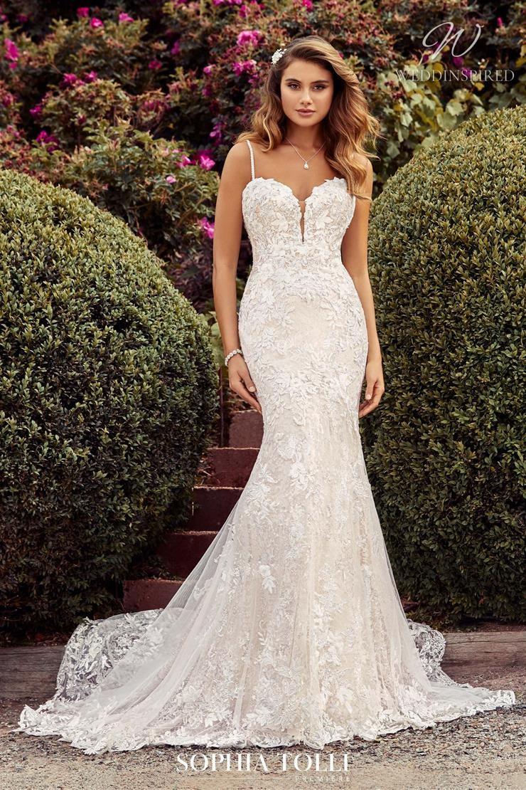 A Sophia Tolli lace mermaid wedding dress
