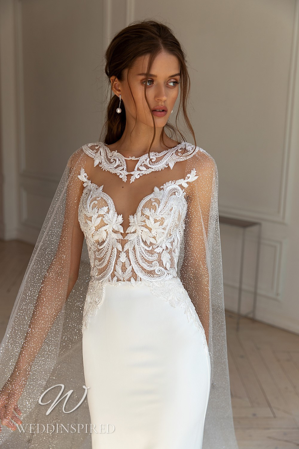 A WONÁ Concept 2021 strapless lace and satin mermaid wedding dress
