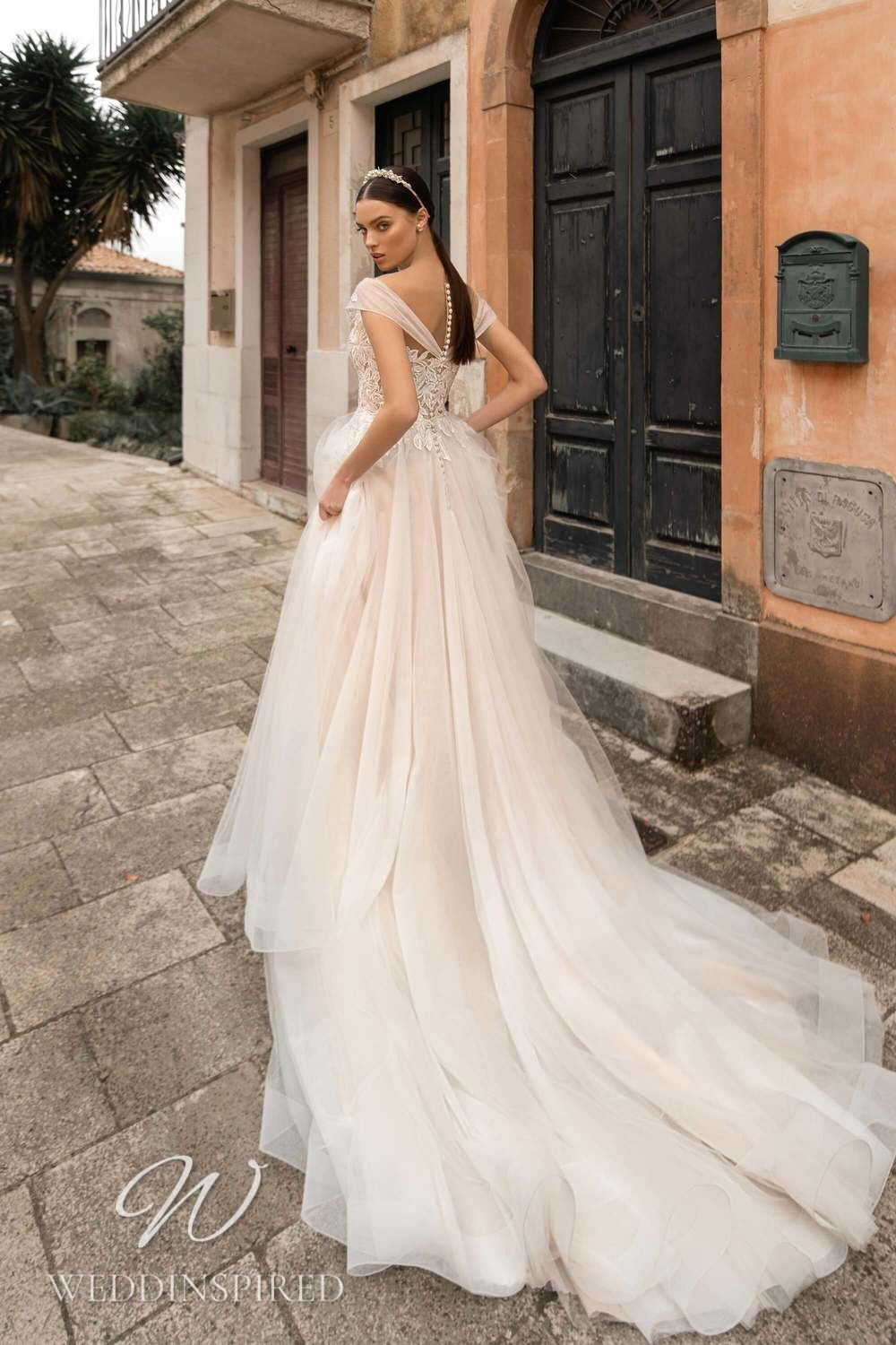 A Lussano 2021 lace and tulle A-line wedding dress