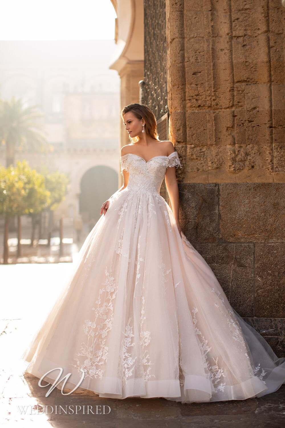 An Essential by Lussano 2021 lace and tulle off the shoulder princess wedding dress