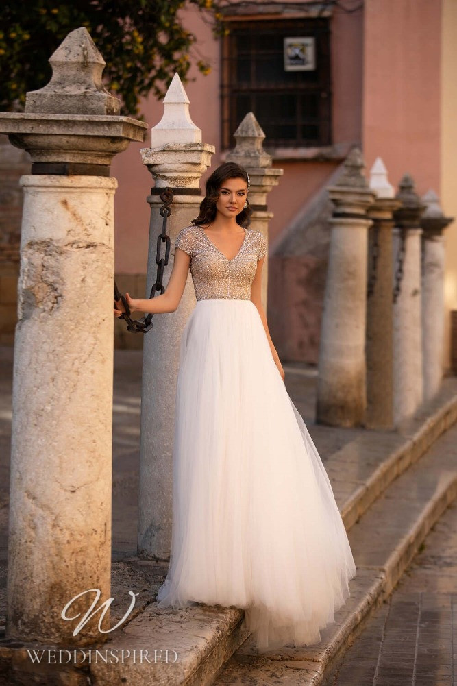 A Nora Naviano 2021 tulle A-line wedding dress