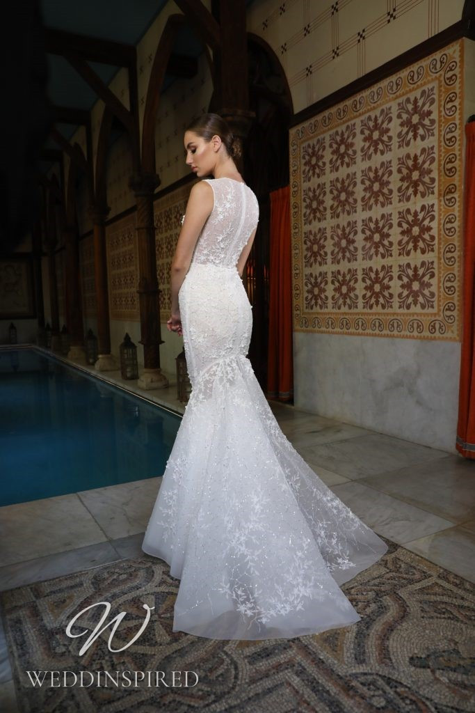 A Georges Hobeika 2021 lace mermaid wedding dress
