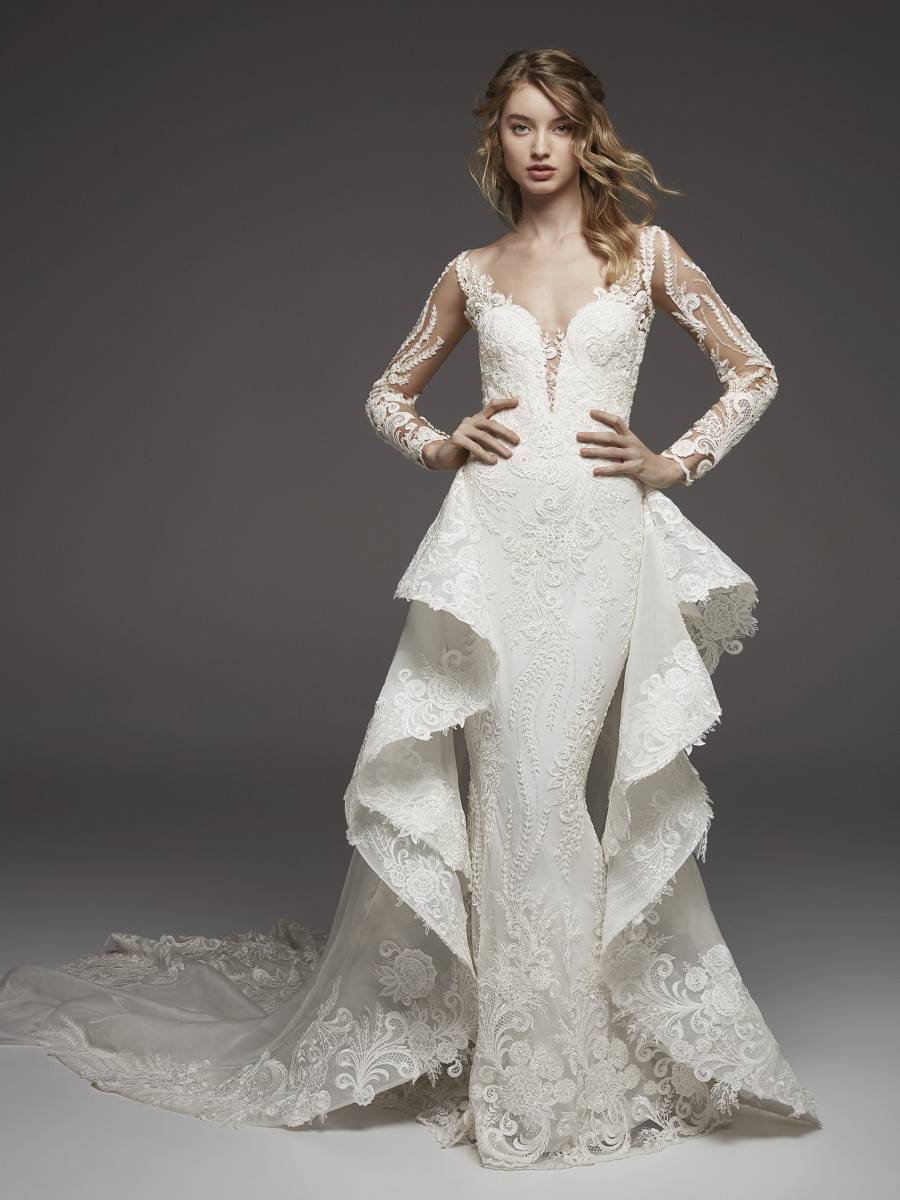 Weddinspired | 50+ Detachable Skirt Wedding Dresses | Pronovias from the Atelier Pronovias collection