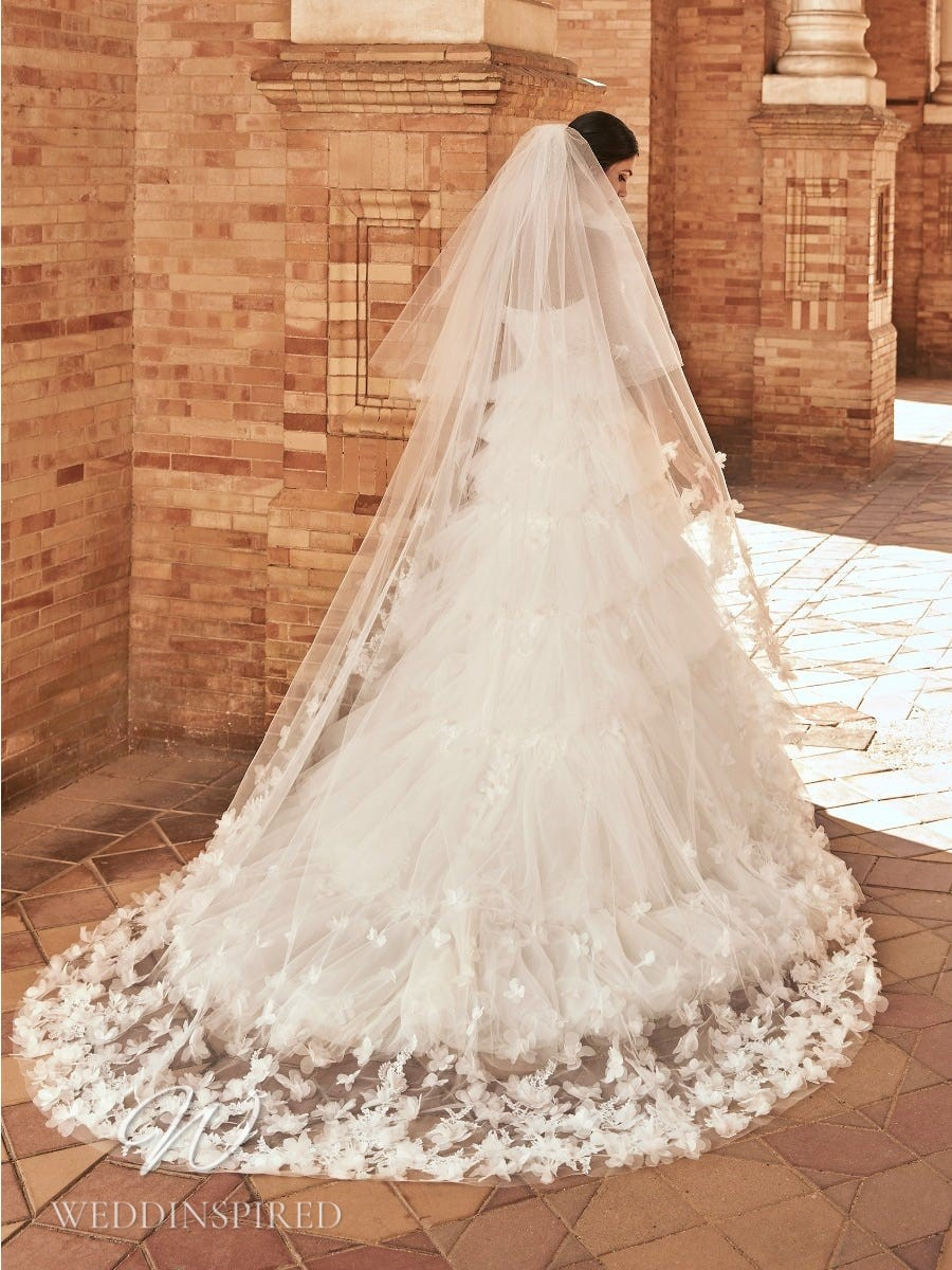 A Marchesa for Pronovias 2022 tulle A-line wedding dress