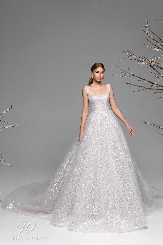 A Ricca Sposa sparkle mesh princess ball gown wedding dress