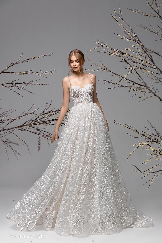 A Ricca Sposa sparkle mesh A-line wedding dress