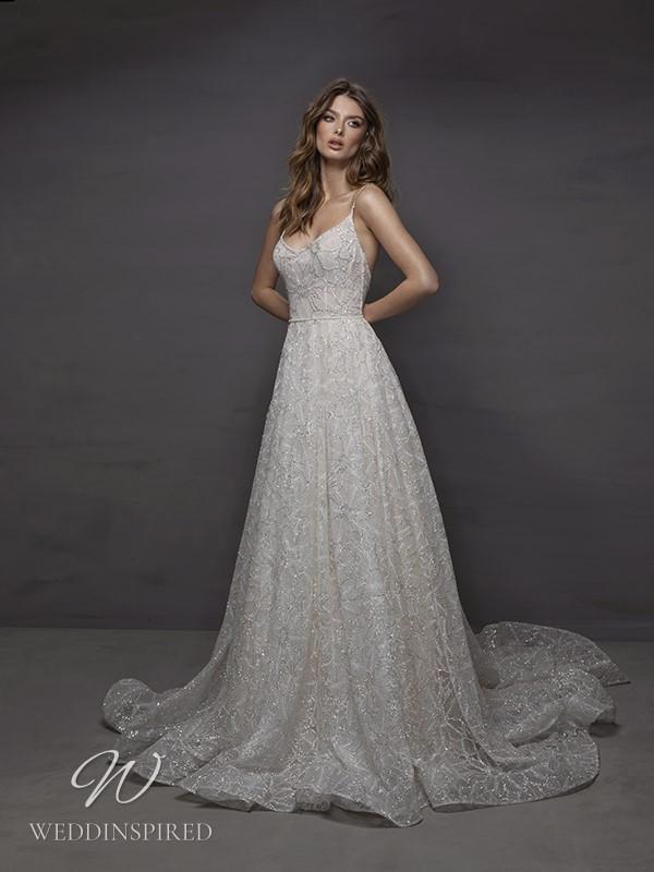 A Riki Dalal 2021 lace A-line wedding dress