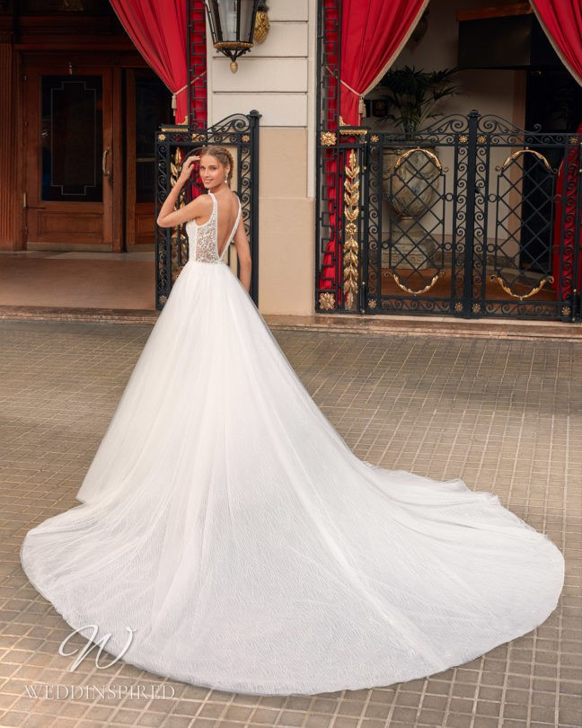 An Aire Barcelona 2021 princess wedding dress with a low back