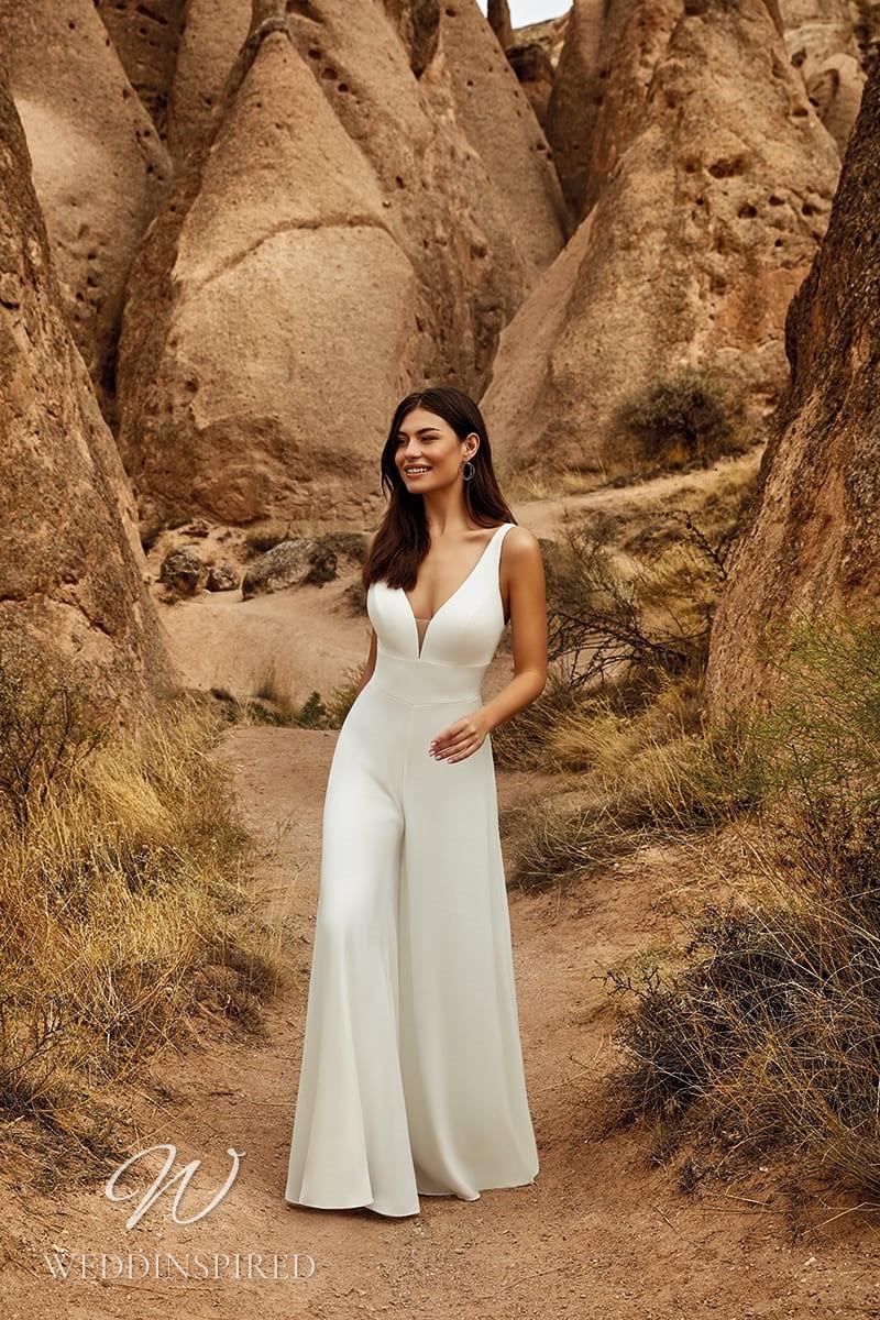 An Eddy K 2021 simple wedding jumpsuit or pantsuit