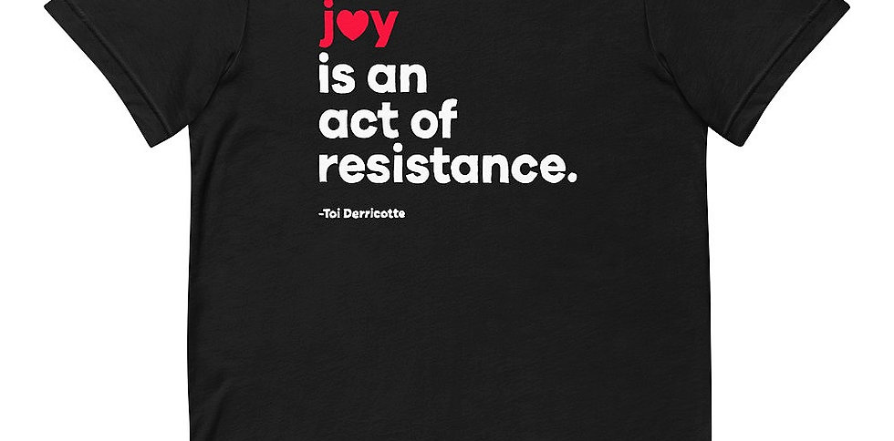 JOY Short-Sleeve Unisex T-Shirt Black