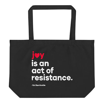 JOY Large organic tote bag