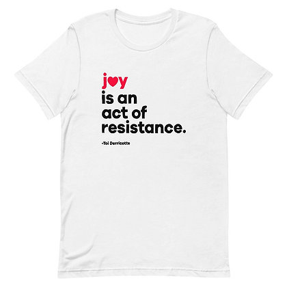 JOY Short-Sleeve Unisex T-Shirt White