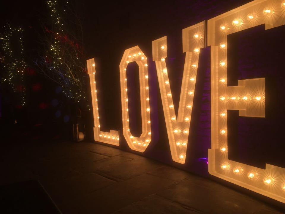 Giant Lightup Love Letters Cripps Barn