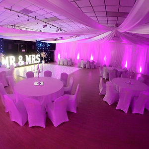 White Drape & Uplighting