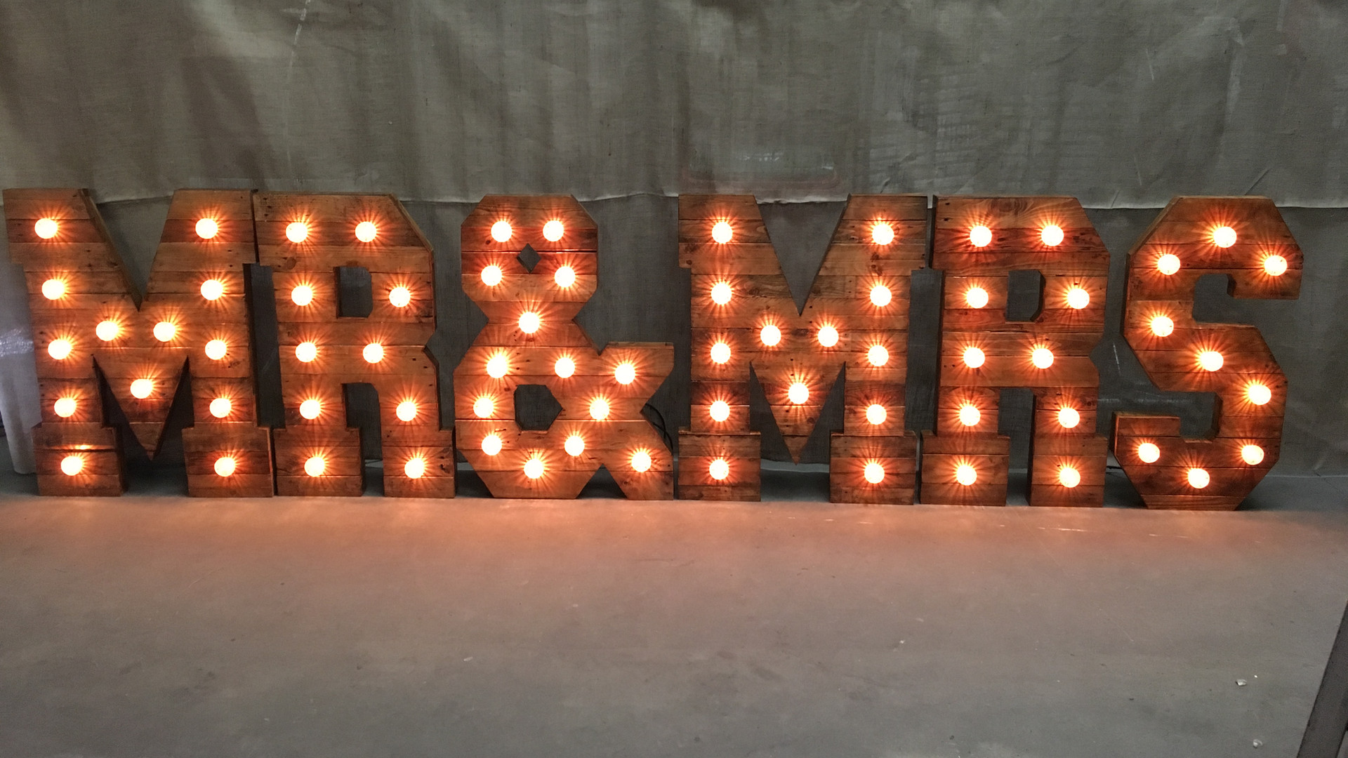 Rustic Giant light up Initial hire glouc