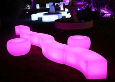 LED Seating outside